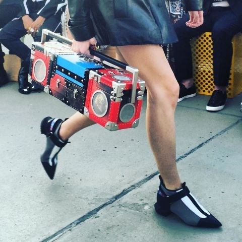 "<strong>But the real show-stopper was this boombox trunk</strong> <br><br> Instagram: <a href=""https://www.instagram.com/i_d/"">@i_D</a>"