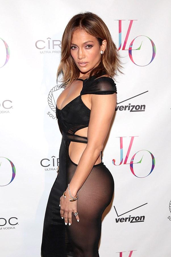 Jennifer Lopez naked dress.