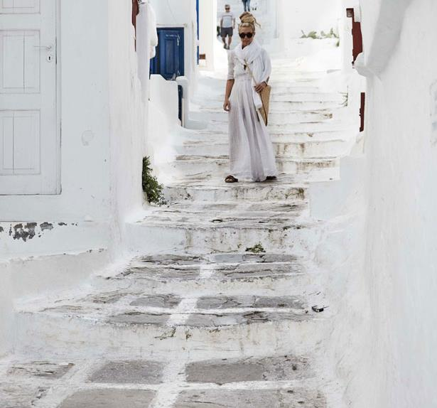 Sheree Commerford in Mykonos, Greece