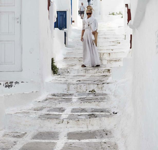 Sheree Commerford in Mykonos, Greece