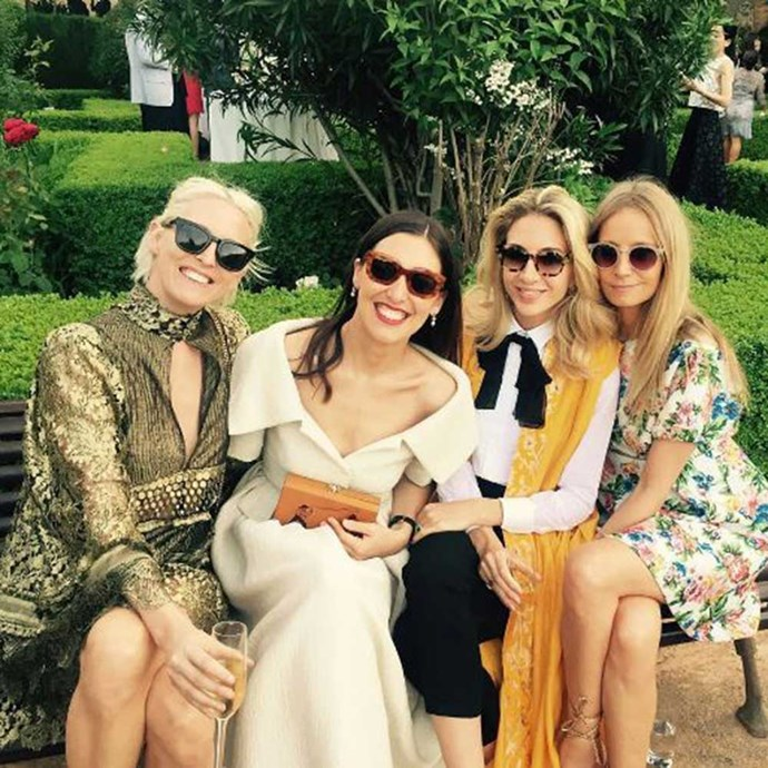 </p><p>Designer Emilia Wickstead attended with friends, wearing a gown that looks suspiciously like the one she created for the bride.