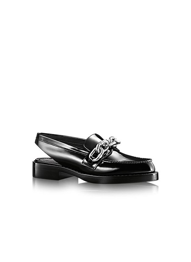 "<a href=""http://au.louisvuitton.com/eng-au/products/mocassin-samourai-012783"">Louis Vuitton slingback loafer, $1650, au.louisvuitton.com</a>"