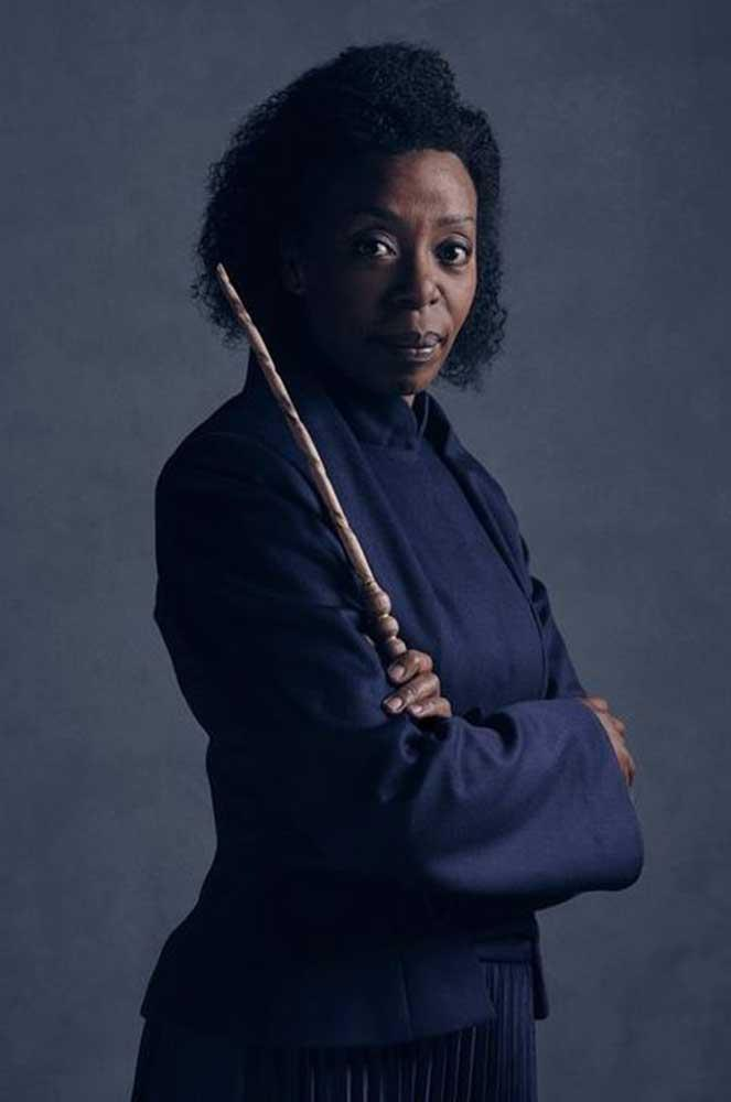 """</P><p>Overnight, fans got their first glimpse of Noma Dumezweni as Hermione Granger.</P><p> """"I am so proud that I am in it,"""" Dumezweni told <em><a href=""""https://www.pottermore.com/news/cursed-child-first-look-at-weasleys-in-character"""">Pottermore</a></em>. </P><p> Rowling said she'd seen Dumezweni rehearsing, and was """"overjoyed"""" byher work. </P><p> """"[Dumezweni] gets Hermione inside and out,"""" she said."""