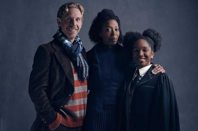 """</P><p>We were also introduced to the Granger-Weasleys &mdash; including Hermione and Ron's (played by Paul Thornley) daughter, Rose, who will be played by Cherrelle Skeete. </P><p> """"Our magnificent daughter Rose Granger-Weasley is about to start at Hogwarts, which is obviously a big day for everyone,"""" Thornley said."""