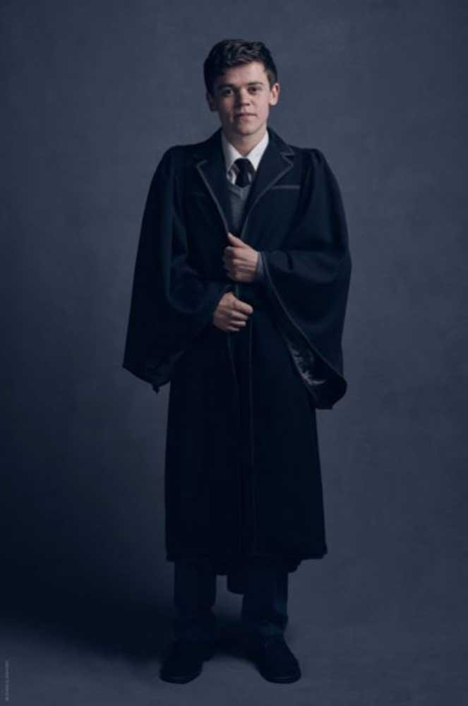 """</P><p>""""There's much I could say about Sam-as-Albus, but we'd be into spoiler territory so quickly I'll just say we couldn't have cast better,"""" Rowling said of Clemmett."""