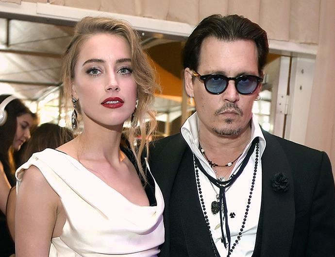 Amber Heard and Johnny Depp.