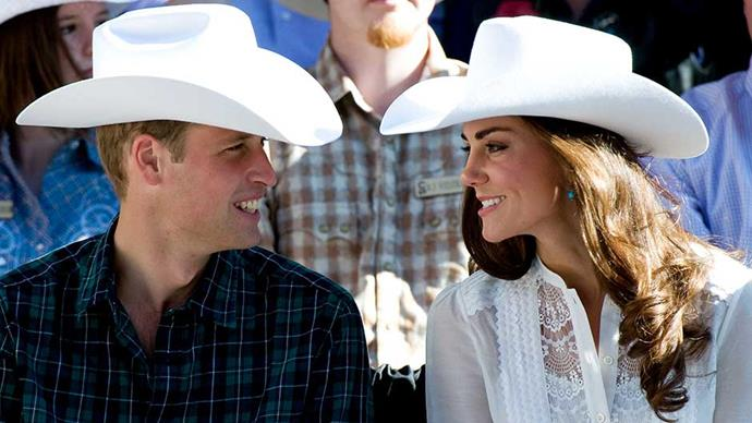 Prince William and Kate Middleton attend the Calgary Stampede in Canada in 2011
