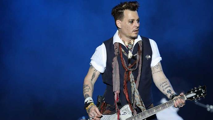 Actor/Musician Johnny Depp of Hollywood Vampires performs onstage at Hessentags-Arena during the 56th Hessentag on May 29, 2016 in Herborn, Germany.
