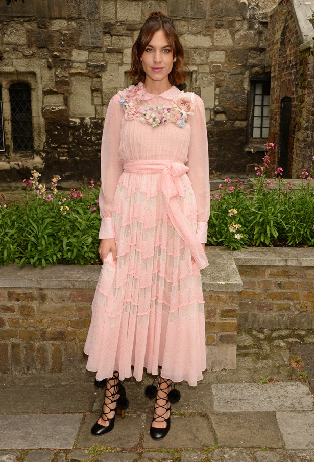 Alexa Chung at Gucci Cruise.