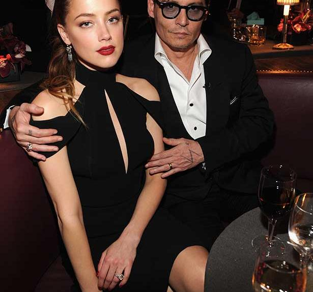 Actress Amber Heard and Johnny Depp attend Spike TV's 'Don Rickles: One Night Only' on May 6, 2014 in New York City.