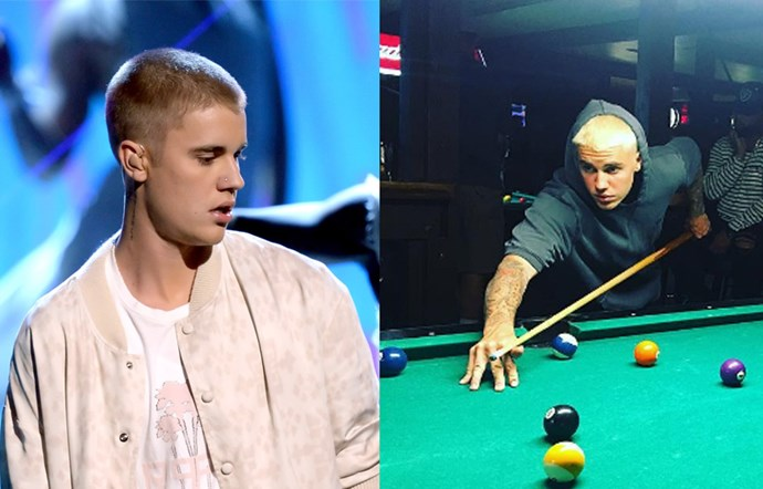 <p> <strong>Justin Bieber</strong></p> <p>Justin Bieber took a leaf out of Taylor Swift's book (and ever other celebrity at the moment) and went ice blonde over the weekend.</p>
