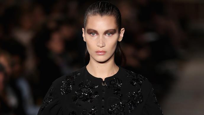 Bella Hadid runway Dior cruise