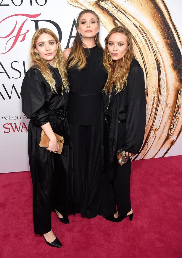 Mary-Kate, Ashley and Elizabeth Olsen.