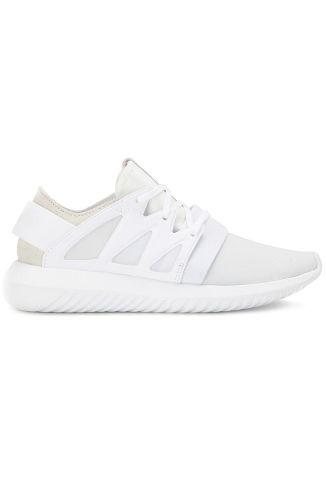 "<strong>Neutral territory</strong><br><br> <a href=""http://www.mytheresa.com/en-au/tubular-viral-sneakers-592257.html?catref=category"">Sneakers, $165, Adidas</a>"
