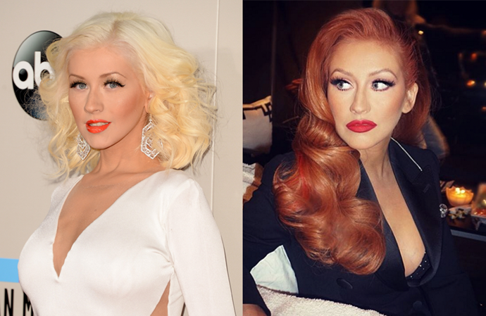 <p> <strong>Christina Aquilera</strong></p> <p>Aside from a brief forray in brunette in the early 2000s, Christina Aguilera has been a pretty loyal blonde since the beginning, but the <em>The Voice</em> judge switched it up last night by going Jessica Rabbit red.</p>
