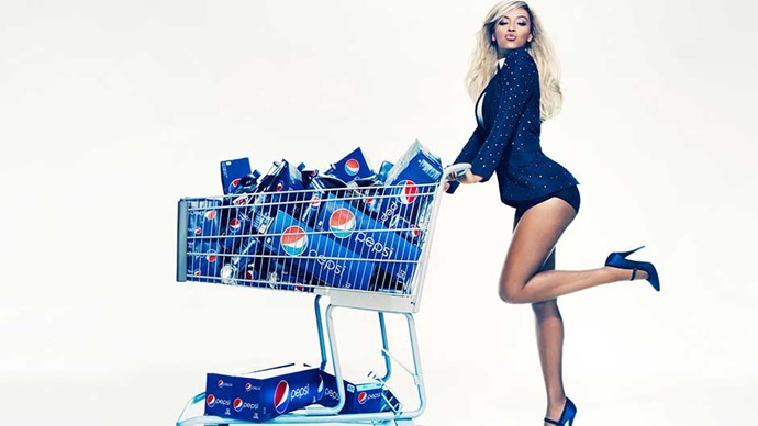 An ad for Pepsi featuring Beyonce Knowles