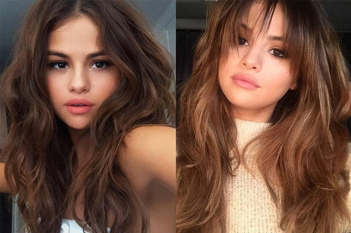 <p> <strong>Selena Gomez</strong></p> <p>At this point, we're not sure whether Selena Gomez is partaking in some sneaky clip-on bangs or not, but either way - we're into it.</p>