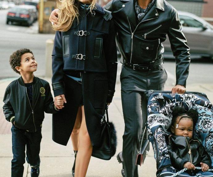 Gigi Hadid Versace campaign.