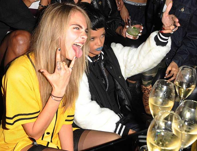 Cara Delevingne and Rihanna attends a photocall to launch to Rihanna for River Island SS14 collection on September 10, 2013 in London, England.