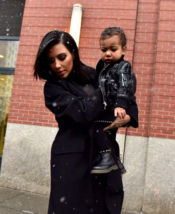 Kim Kardashian and North West.