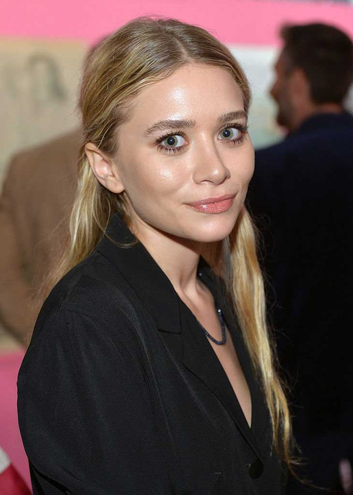 Actress Ashley Olsen attends Diane Von Furstenberg's Journey of A Dress Exhibition Opening Celebration at May Company Building at LACMA West on January 10, 2014 in Los Angeles, California.
