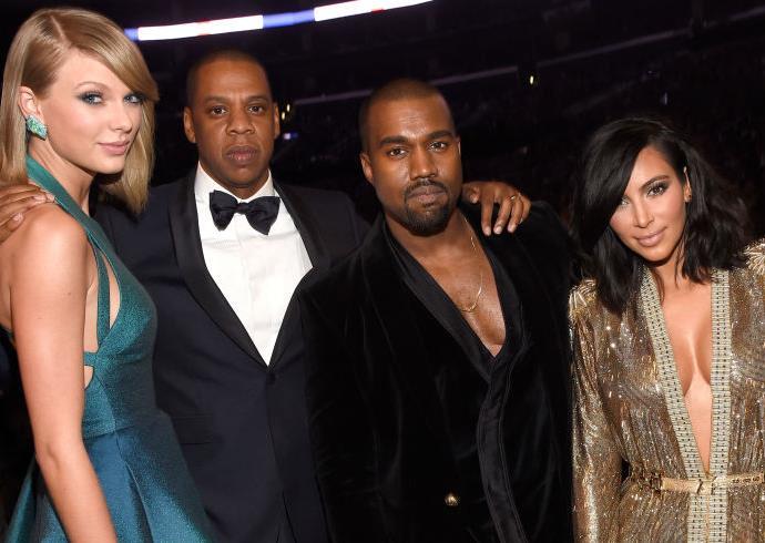 Taylor Swift Jay Z Kanye West Kim Kardashian