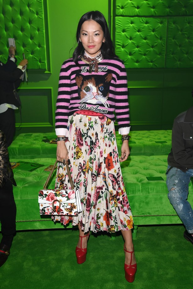Tina Leung at Gucci.