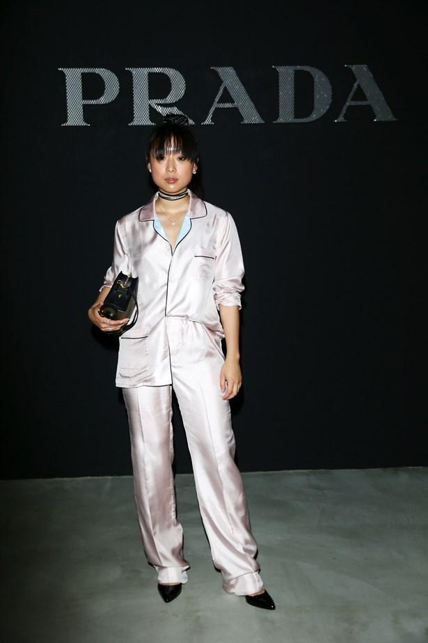 Margaret Zhang at Prada.