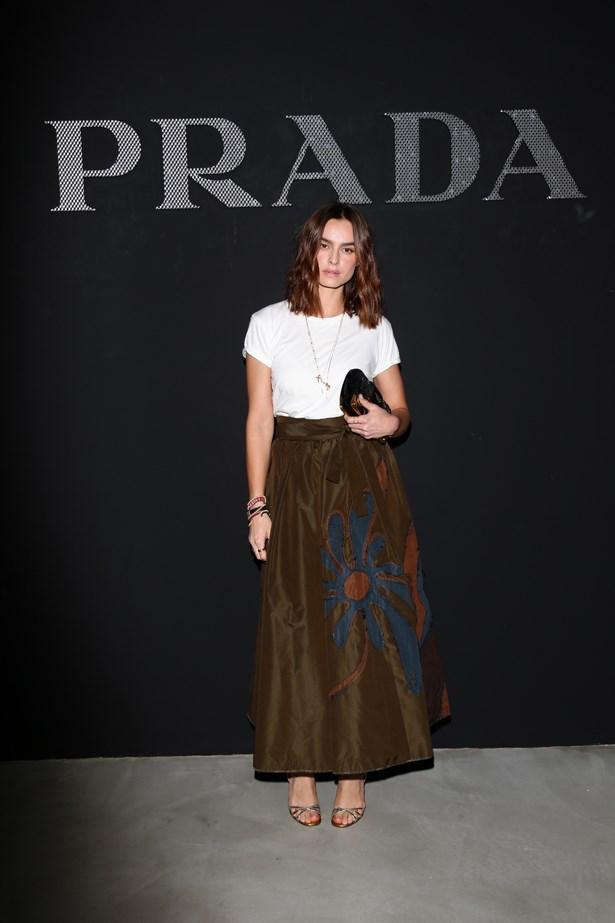 Kasia Smutniak at Prada.