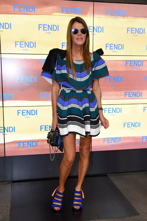 Anna Dello Russo at Fendi.