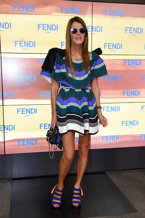 Anna Dello Russo at Fendi.