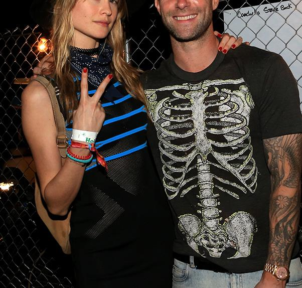 Adam Levine and Behati Prinsloo.
