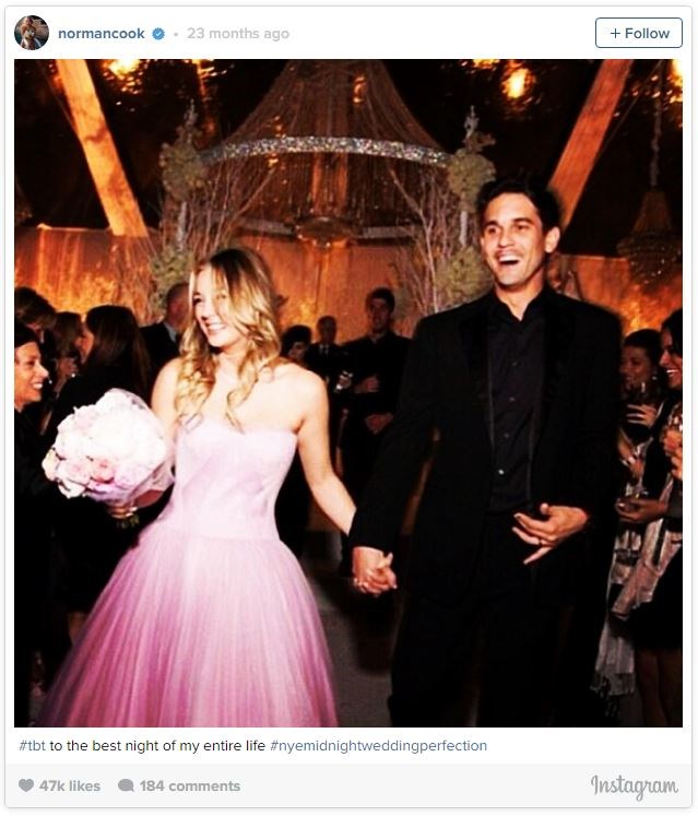 Kaley Cuoco also went for pink for her very short lived wedding to Ryan Sweeting.