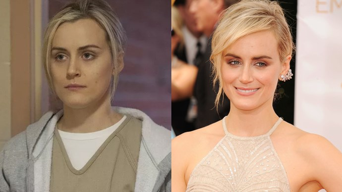 Taylor Schilling as Piper Chapman.