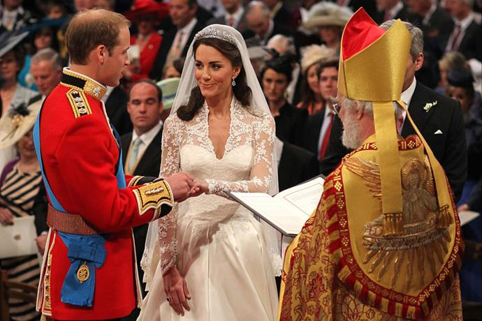 "<P> <strong>PLAYING A ROLE IN A LAWSUIT</strong><p> <p> Years after her wedding, Kate's Alexander McQueen gown made headlines when designer <a href=""http://wwd.com/fashion-news/fashion-scoops/mcqueen-responds-to-royal-wedding-dress-lawsuit-10417517/"" target=""_blank"">Christine Kendall sued the fashion house</a> for breach of copyright. She claimed McQueen stole her initial sketches for the dress, and the case is still pending."