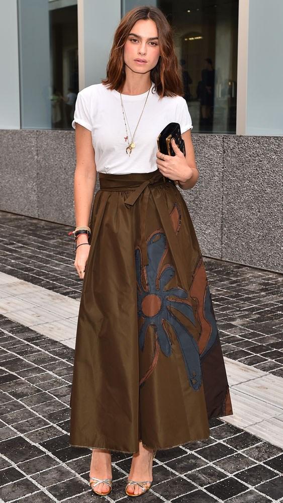 Kasia Smutniak at a private dinner held by Prada during men's fashion week in Milan.