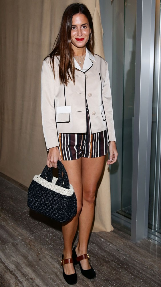 Gala Gonzalez at a private dinner held by Prada during men's fashion week in Milan.