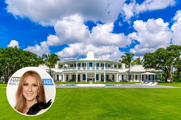 "</p><p><b>Celine Dion</b></p><p> Loation: Jupiter Island, Florida</p><p> When your net worth is $850 million, you can afford to spoil your family a little—you know, with a $98 million summer home that comes with its own private water park. According to <a href=""http://www.zillow.com/blog/celine-dion-lists-jupiter-island-estate-for-72-5-million-132568/"">Zillow</a>, the property also includes two houses and its own private beach. Dion has since sold the ""humble"" abose, but we like to think her heart will go on."