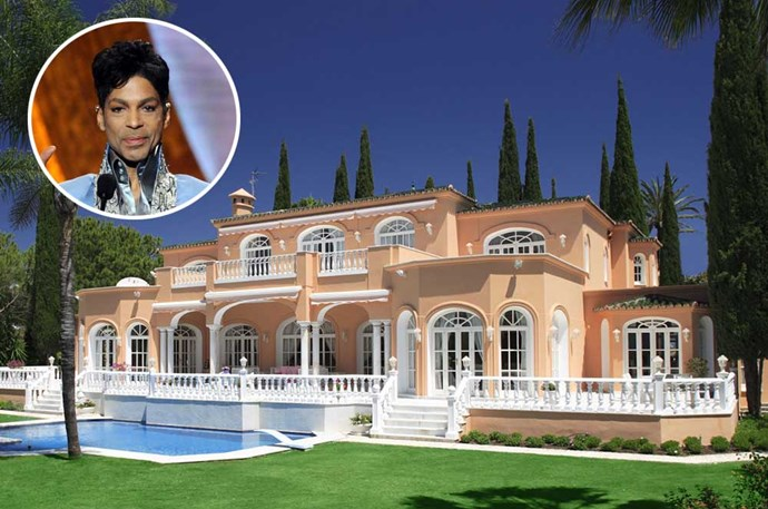 "</p><p><b>Prince</b></p><p> Location: El Paraiso, Spain</p><p> The late music icon truly lived up to his name, and his house reflected it. The mega mansion Prince left behind it the ultimate European dream house, situated in rolling Spanish hills and overlooking the Mediterranean Sea — and <a href=""http://www.elledecor.com/celebrity-style/celebrity-homes/news/a8601/prince-spanish-villa/"">it's all yours</a> for $8 million."