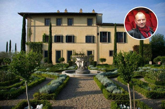 "</P><p><b>Sting</b></p><p> Location: Tuscany, Italy</p><p> Former Police lead singer Sting vacations in a picturesque 16th-century estate that overlooks the Tuscan countryside. The 16-time Grammy award winner and his wife spend their downtime on this breathtaking property, complete with a pool, lake and, of course, vineyards. Love it? The estate is <a href=""http://www.elledecor.com/celebrity-style/celebrity-homes/a7798/stings-tuscan-escape-is-what-fairytales-are-made-of/"">available for rental</a>, meaning you too can party like a rockstar."