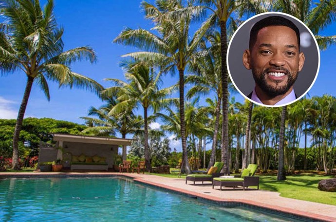 "</p><p><b>Will Smith</b></p><p> Location: Kauai, Hawaii</P><P> Will Smith bought this incredible 2,200-square-foot piece of <a href=""http://www.elledecor.com/celebrity-style/luxury-real-estate/news/a7448/will-smiths-one-time-hawaii-retreat-could-be-yours-for-295-million/"">Hawaiian paradise</a> in 2009 for $18.2 million. As with any dream summer house, a pool and gym are obviously included—but that's nothing compared to the property's private beach. Smith and his family sold the home in 2011, but we suspect the Fresh Prince is moving on to even bigger and better properties."