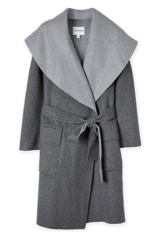 "<a href=""http://www.countryroad.com.au/shop/woman/clothing/jackets-and-coats/60193838/Shawl-Waterfall-Coat.html"">Coat, $399, Country Road</a>"