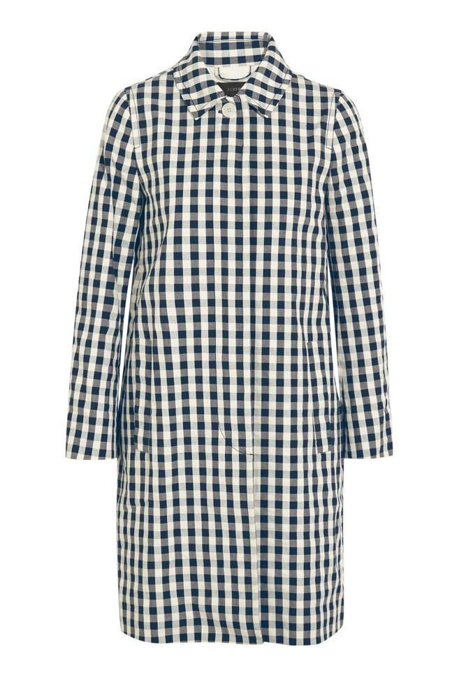"<a href=""https://www.net-a-porter.com/au/en/product/684562/j_crew/gingham-cotton-trench-coat"">Coat, $320, J.Crew at net-a-porter.com</a>"