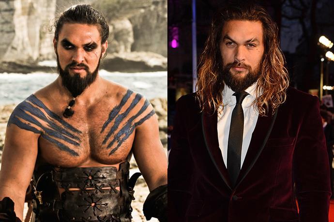 Jason Momoa as Khal Drogo.