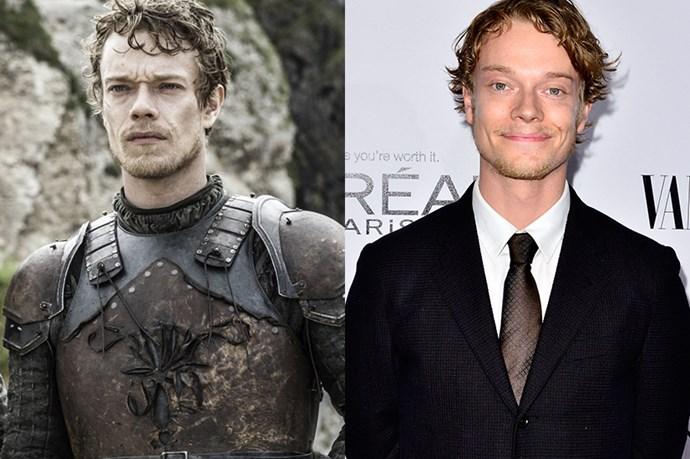 Alfie Allen as Theon Greyjoy.