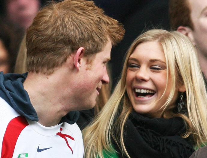 Chelsy Davy and Prince Harry.