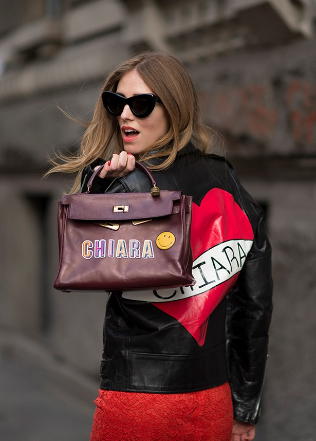 Chiara Ferragni did double-monogramming with this outfit.
