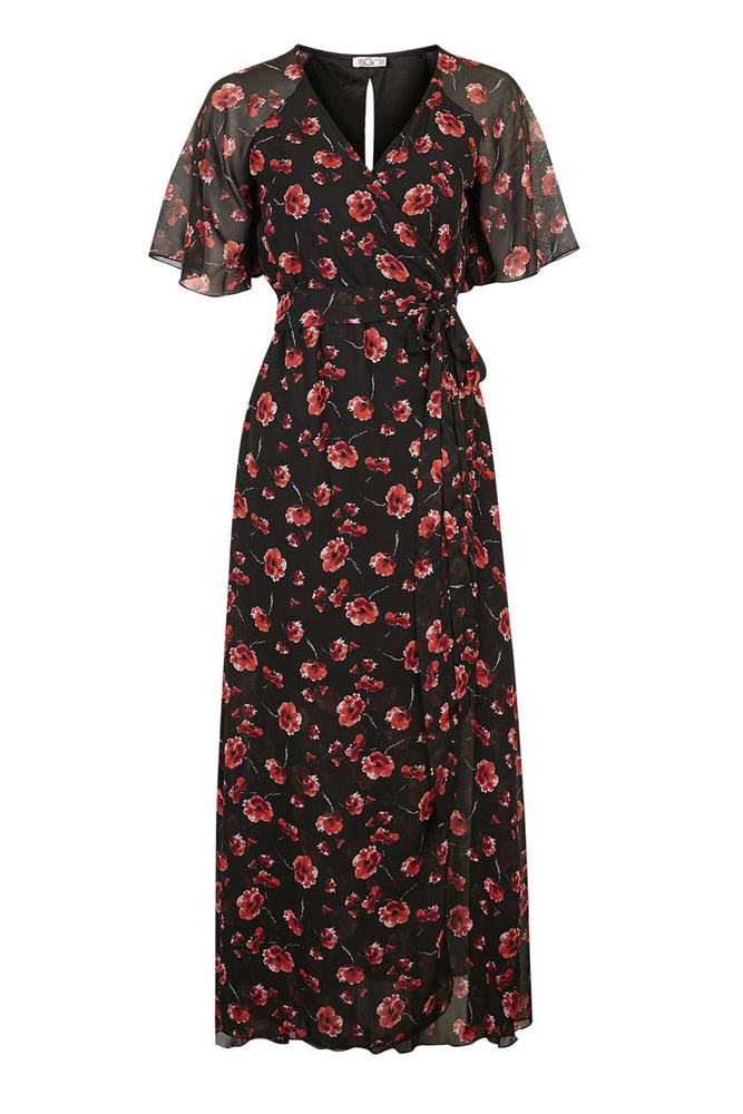 "Festival muse: Suki Waterhouse<br><br> <a href=""http://www.topshop.com/en/tsuk/product/floral-bell-sleeve-maxi-by-wal-g-5483455?bi=60&ps=20"">Dress, $85, Topshop</a>"