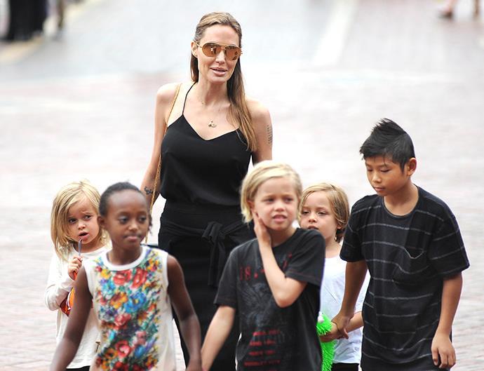 Angelina Jolie kids.