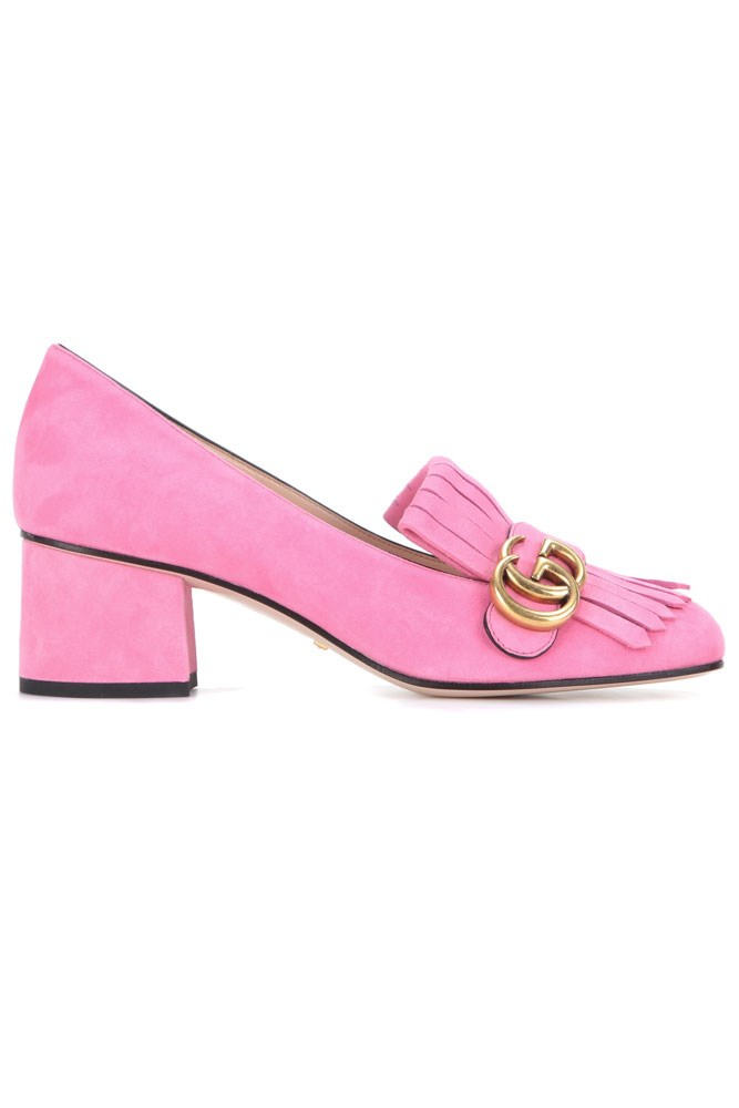 "<a href=""http://www.mytheresa.com/en-au/suede-loafer-pumps-601350.html?catref=category"">Pumps, $765, Gucci at mytheresa.com</a>"